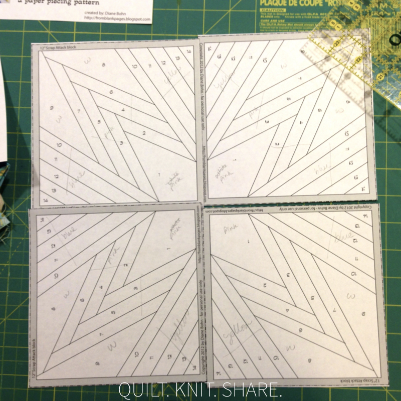 A paper piece star block.